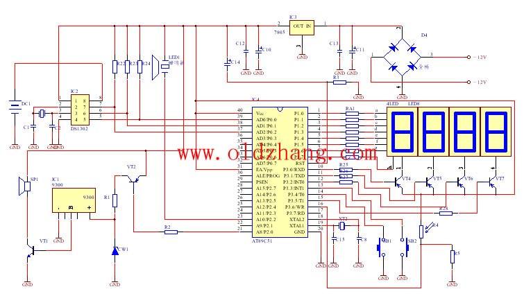 设计一款利用51单片机为控制器的数字电子钟;