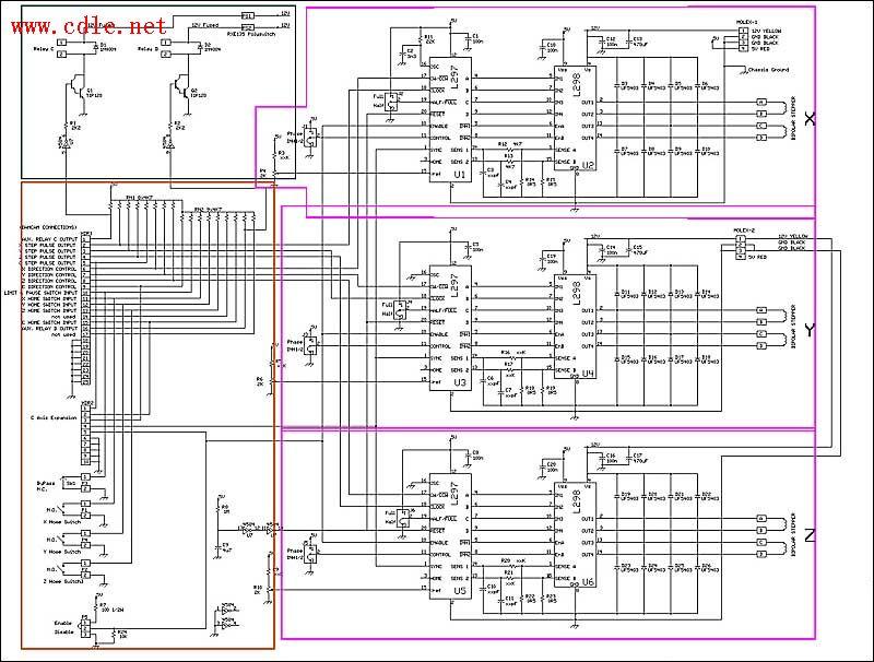 cnc雕刻机电路接线图