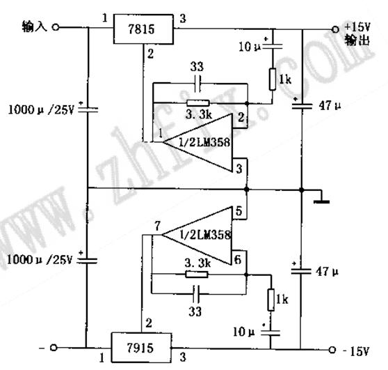 在音响diy书上看到一个高速伺服电源的原理图,里面三端稳压的接地