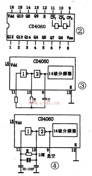 用纯数字电路(计数器)构成的电子表