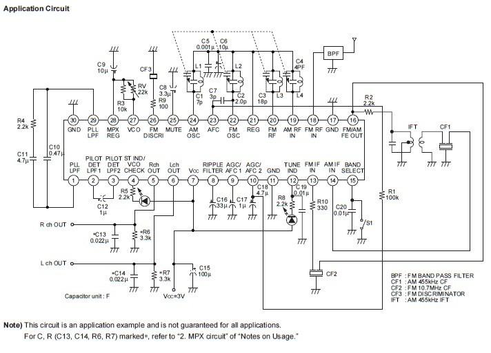 索尼1190收音机电路图