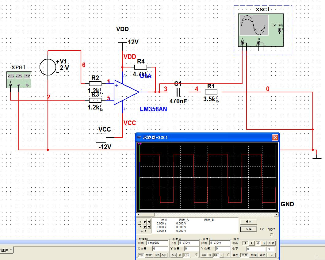 lm358做比较器电路怎么画啊?仿真通不过.大家帮看下