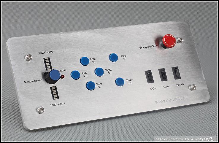 我们的雕刻机控制箱操作面板正式发布. 暨:我们的3800
