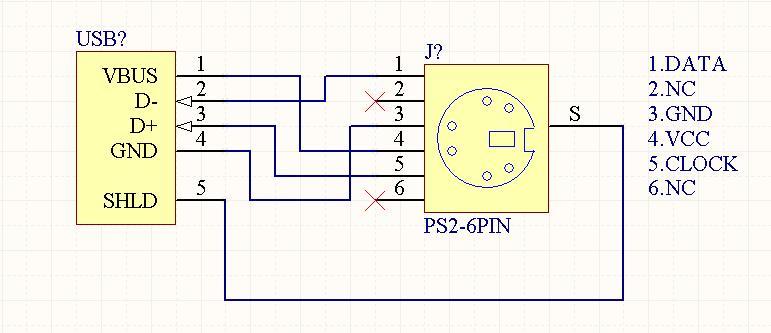据我所知,一些鼠标键盘的芯片如义隆的EM78P611等芯片可以识别PS2或USB接口,当检测到USB接口时,芯片工作在USB模式,反之工作在PS2模式。所以USB转PS2的接口内部只需要简单跳线就可以了。