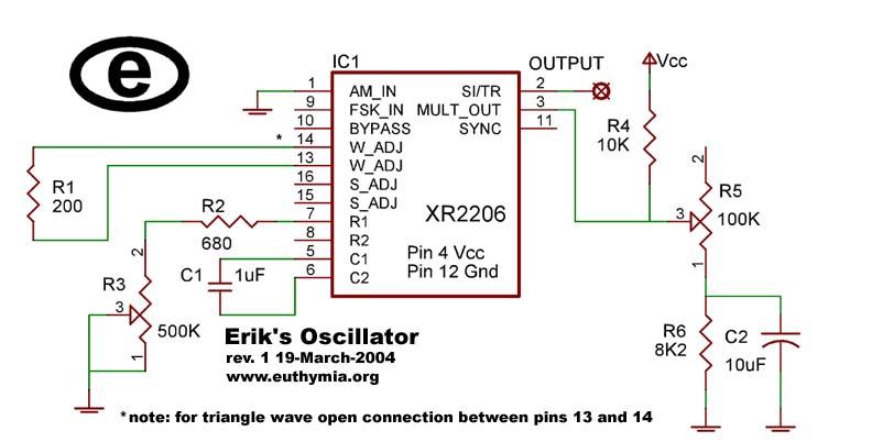 Circuito Xr2206 : Circuit xr