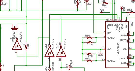 sla7062雕刻机步进电机驱动pcb