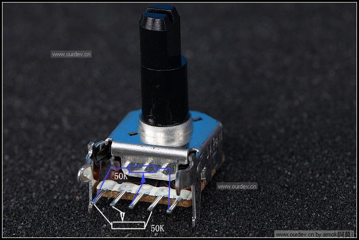 双联电位器接线图下载 5脚电位器接线图 双联双控开关接线图