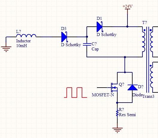 关于反激式开关电源的mos管g极波形