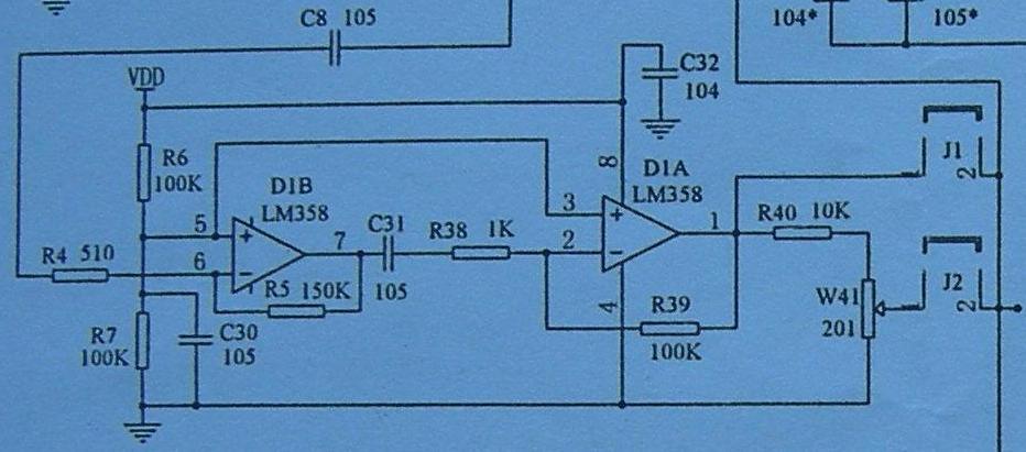 R9 C10 和D2A构成的不是振荡器,俺之前没细看,弄错了,不好意思。 上电时,D2A的3脚为低电平,无脉冲输入,Q为低电平,/Q=H,通过R9 向C10充电,待C10电压上升到可以使D2A的置位端S有效,并且在D2A的3脚有脉冲输入(与边沿无关)时,D触发器置位,Q=H,/Q=L。 C10通过R9、/Q放电。。一旦D2A的置位端S电压降低到4013的逻辑低电平,受3脚CLK的作用,Q=L,/Q=H。C10又开始充电。 结果是,必须在D2A的3脚CLK作用下,R9、C10才能完成充、放电。 简单说,构成
