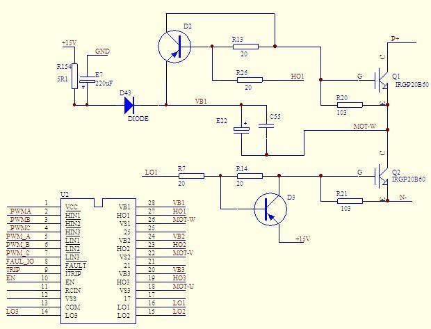 2136驱动igbt管变频控制电路