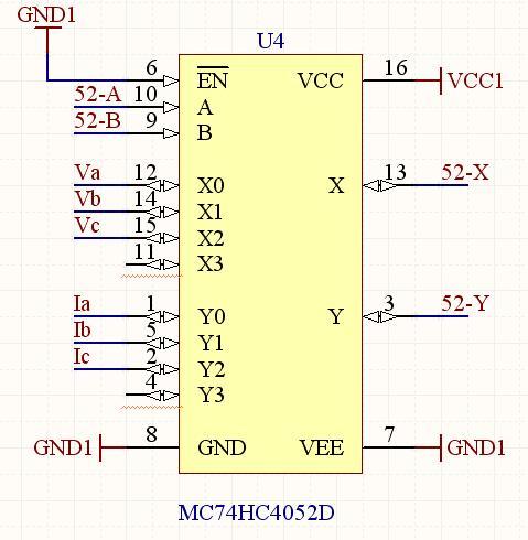 电路连接如下图:; 再次虚心请教模拟开关4052