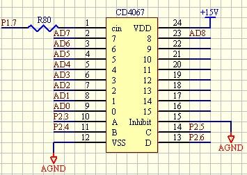 cd4067的接线图