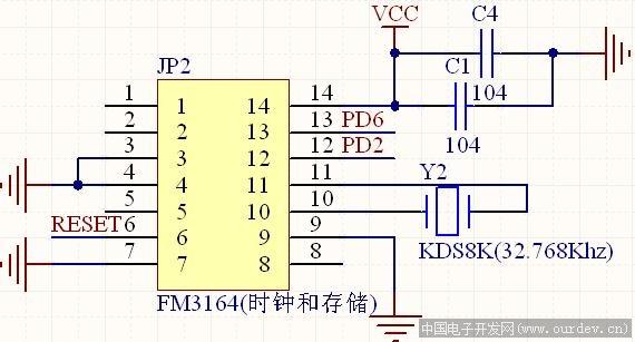 关于铁电存储器fm3164正常工作的问题