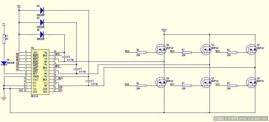 ir2130作为无刷直流电机驱动芯片的一些问题