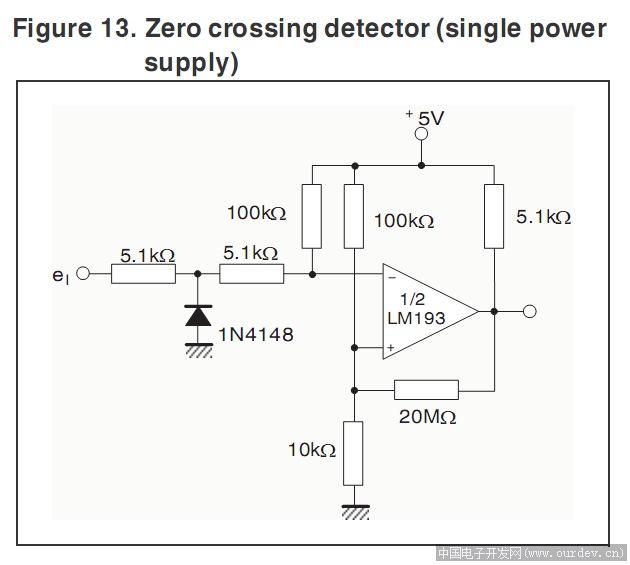 关于lm393过零比较器应用的不解