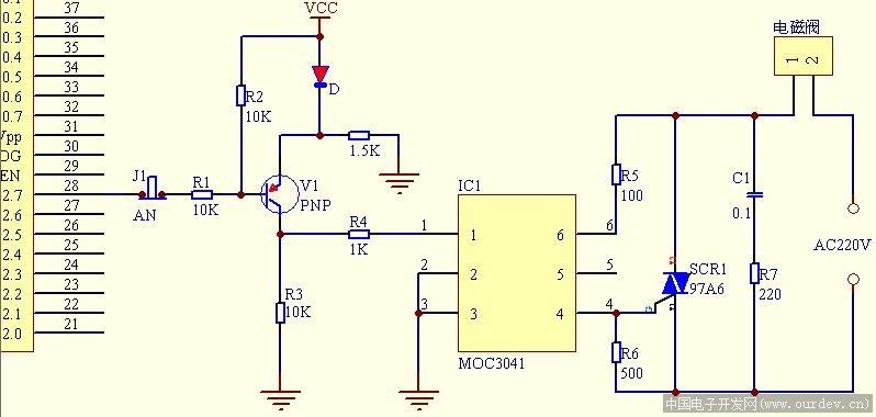 过零检测电路 (原文件名:可控硅过零检测.jpg)