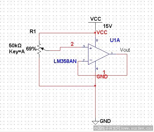 lm358作电压跟随器输出不能从0v开始