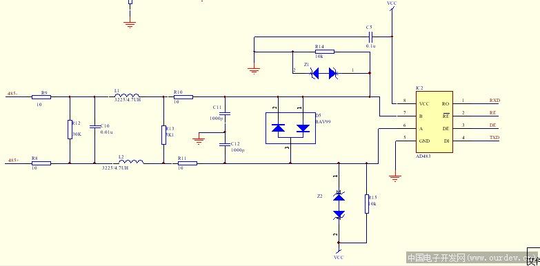 ab rs485串口接线图