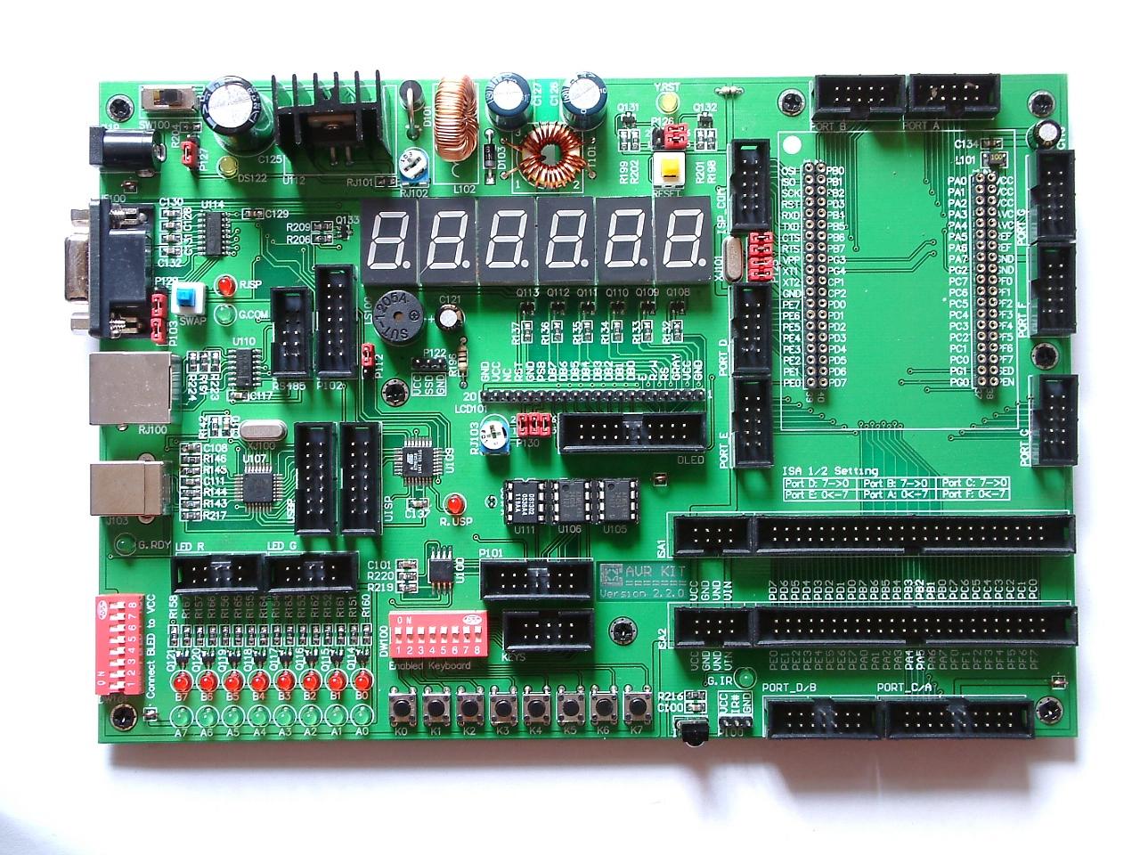 分享我的avr开发板电路图