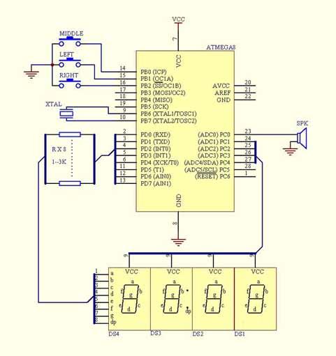 数码管接法如下   程序如下