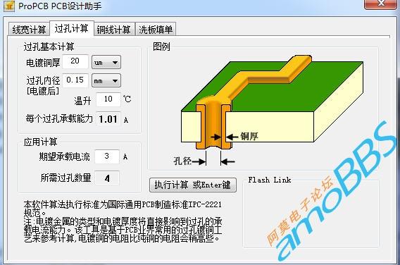 PCB线宽、铜厚、过孔与电流计算工具 从微控网站下载的两款有趣实用的软体,内部有PCB线宽、铜厚、过孔与电流计算,铜导线与电流计算,洗板填单向导工具觉得比较实用。有兴趣的下载玩玩吧。 功能强大的电阻识别助手 这个小东西有色环、贴片、阻值表、规格、材料。觉得实用点还是有那个阻值表。