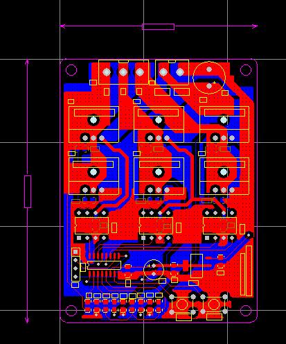 STC51单片机无刷电机BLDC电路板
