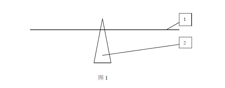 注:天平和控制系统均为自制。1为天平臂,2为支架。