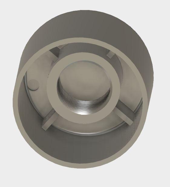 仿原盖子画的3D模型,内部4条加强筋,M14螺纹